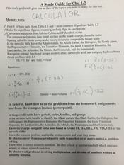 CHEM 103 Chapter 1 and 2 study guide with Conversion Formulas Simplified