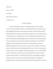 Essay 1 Proposal - Lit