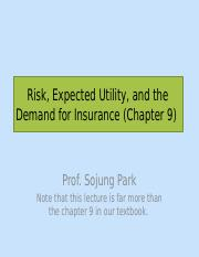 L4 - Risk, Expected Utility, and the Demand for Insurance.pptx
