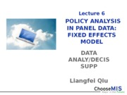 6_Policy Analysis in Panel Data