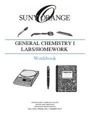 General Chemistry I workbook