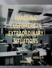 HANDLING CUSTOMER IN EXTRA-ORDINARY SITUATIONS BY FERNANDEZ