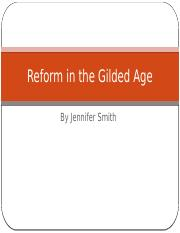 Reform in the Gilded Age