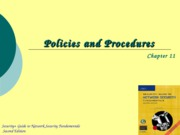 Ch11 - Policies and Procedures
