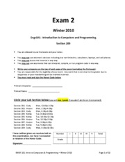 Exam #2 Sample3