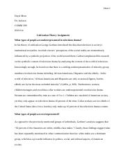 Cultivation Theory assignment.docx