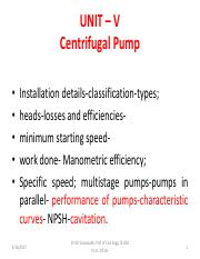 01  centrifugal pumps(Installation details-classification