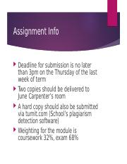 PS 3408 assignment info