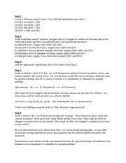 Shifters and Estimating Demand Worksheet