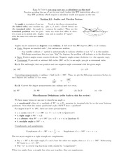 Basic Trigonometry Notes