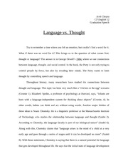 Langauge vs Thought Speech