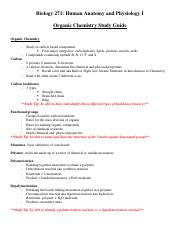 Organic Chemistry Unit Study Guide