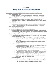 9.15.2011 Gay and Lesbian Exclusion