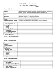 Test 1 Study Guide Template