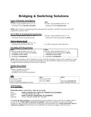 Bridging & Switching Solutions.doc