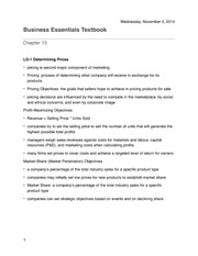 Business Essentials Chapter 13