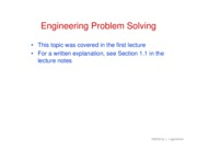 1. Engineering problem solving