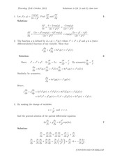 Answers to Linear Algebra Class Test 2012 (solutions)