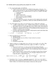 Exam II 2011 answers