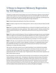 5 Steps to Improve Memory Regression by Self Hypnosis.docx