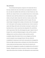 theseus and heracles essay Essays on heracles we have found 60 essays on heracles heracles is a hero 3 pages (750 words) heracles and theseus heracles, of course, is the most famous hero, demigod, son of zeus, the top god in the pantheon of greek gods.