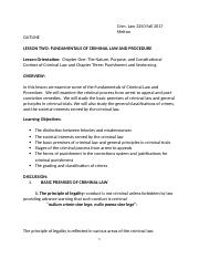 Outline Lesson Two Fundamentals of Criminal Law and Procedure.docx