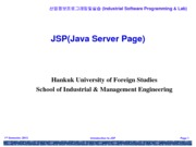 Lecture 3 Introduction to JSP