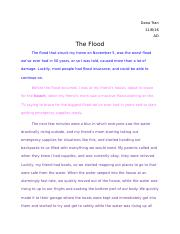 The Flood Essay.docx
