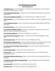 The 33 Chiropractic Principles