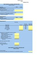 Excel Templates for Homework - Ch. 7
