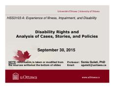 LECTURE 3 - Disability Rights