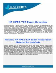 HPE2-T27 HPE Synergy Solutions Exam Questions