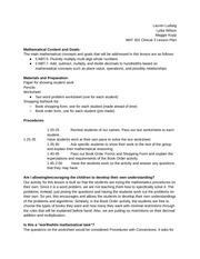 MAT 302 Clinical 3 Lesson Plan