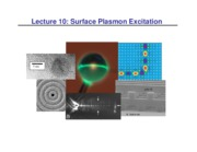 Lecture 10 - Surface Plasmon Excitation