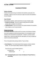 -Acctba2  Lecture 8 - Dividends (3TAY1516)