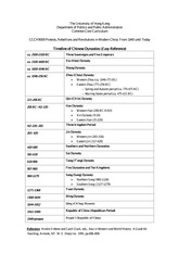 ccch9009_handout1.Timeline_of_Chinese_Dynasties