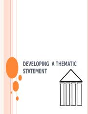 Thematic Statements PPT.ppt