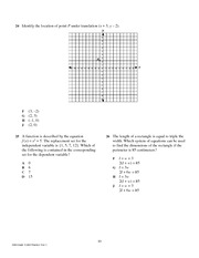 10th Grade Mathematics TAKS Practice Test 1.11-15