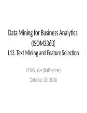 Lecture13-Text Mining