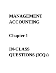 ICQs - Chapter 1 Questions