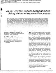 Class2 Value-driven process management
