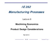 IE262-Lecture_9_Machining_Economics_and_Product_Design_Considerations_
