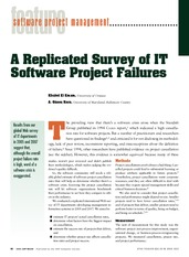 A replicated survey of It software project failures