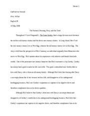 English Final Great Gatsby Paper