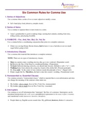 Six Common Rules for Comma Use.pdf