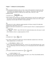 Answers to selected problems of Chapter 7