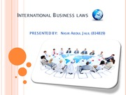 6.3 International bussiness (Law of Sale of Goods)