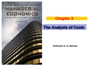 Chapter 5 (The Analysis of Costs) Winter 2013