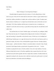 week essay descartes meditation vi kyle makey descartes  1 pages week 1 essay hume s dialogues