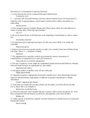 Intro to Communication Jeapordy Questions